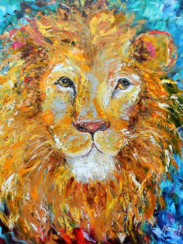 Check out 'Portrait of a Lion' by Karen Tarlton on TurningArt