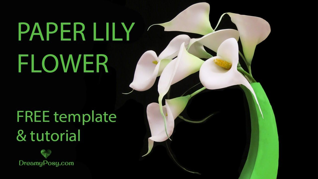 Free template and tutorial paper calla lily so easy and realistic you can easily diy these realistic paper calla lily flowers with the free templates and tutorial her arrange it like this or make it as wedding posy mightylinksfo