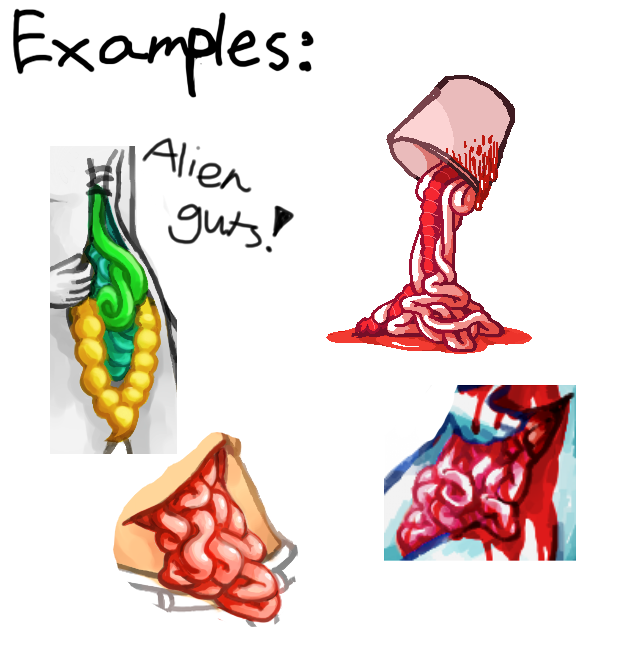 how to draw gut spill