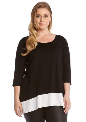 Karen Kane  Plus Size MM Contrast Tunic