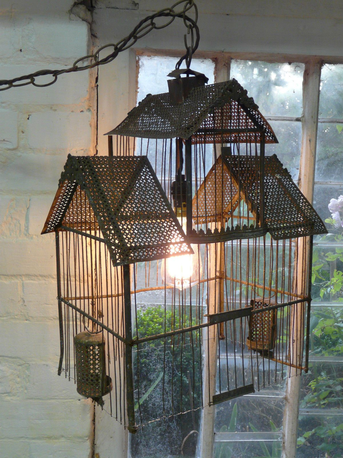 19th CENTURY FRENCH BIRDCAGE WIRE CAGE LIGHT   eBay   Bird Cages ...