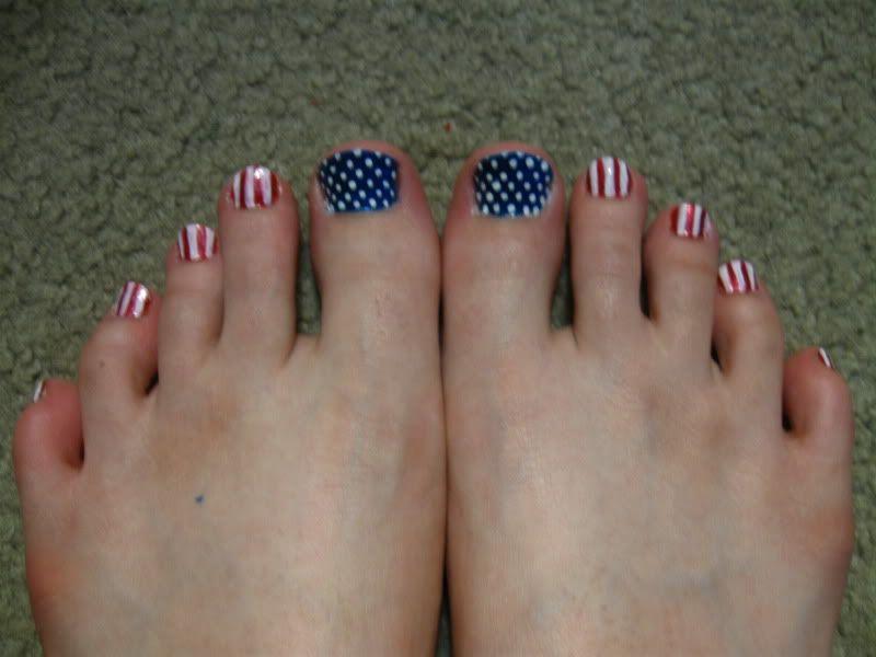 Patriotic DIY toes... I will be doing this! LOVE IT! - Patriotic DIY Toes... I Will Be Doing This! LOVE IT!! Patriotic