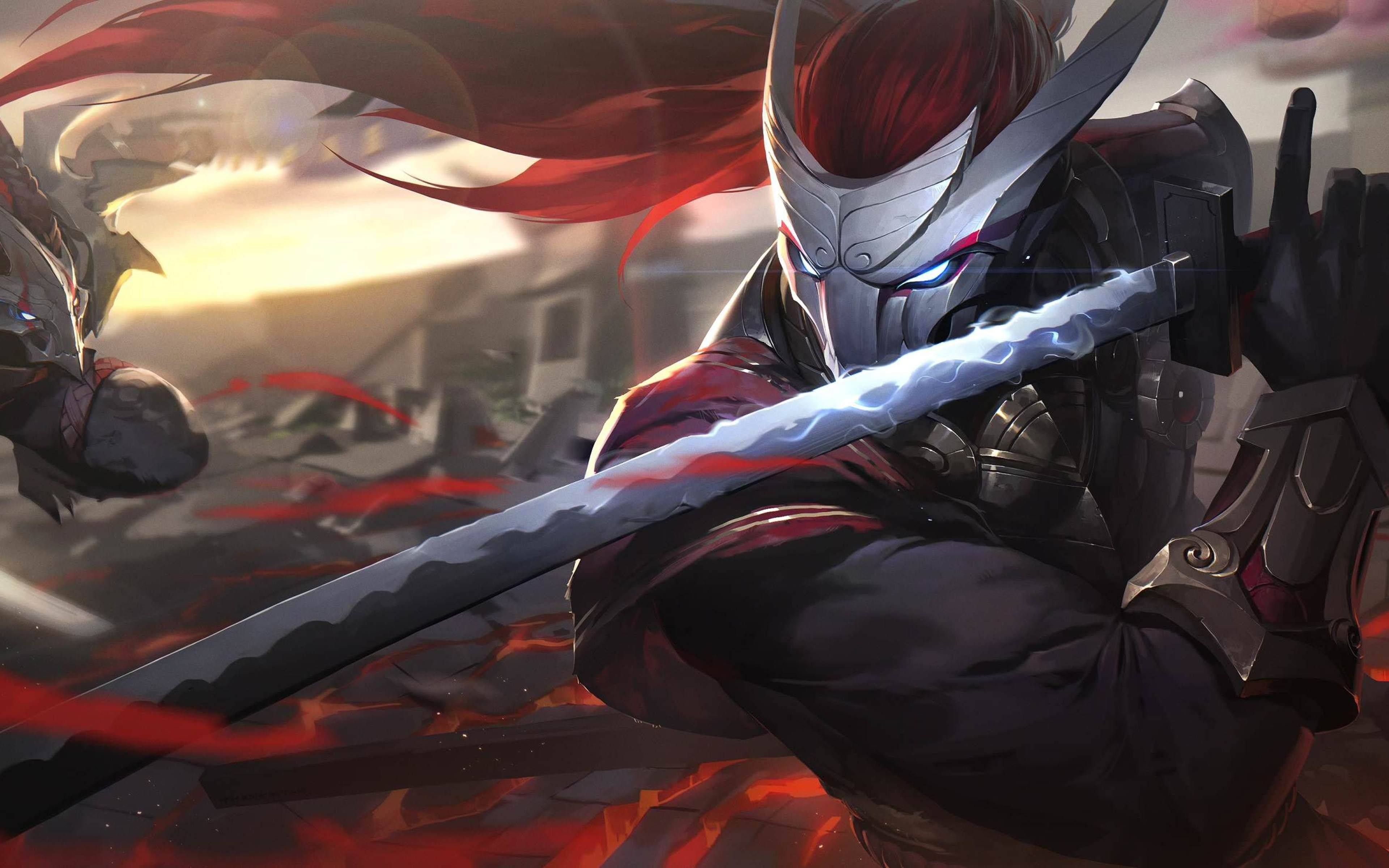 Yasuo Rengar 4k Moba Darkness League Of Legends ศ ลปะ