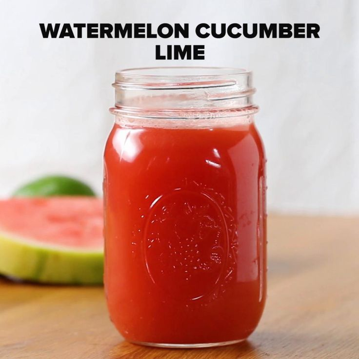 Watermelon Cucumber Lime Juice Recipe by Tasty