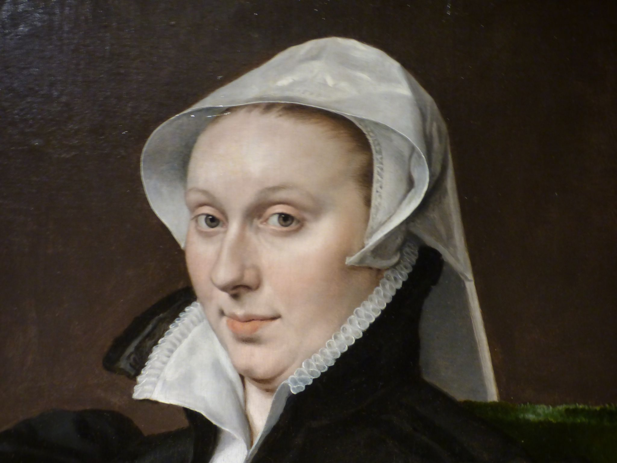 Portrait of Anne Fernely (detail), Anthonis Mor, c. 1560 - c. 1565