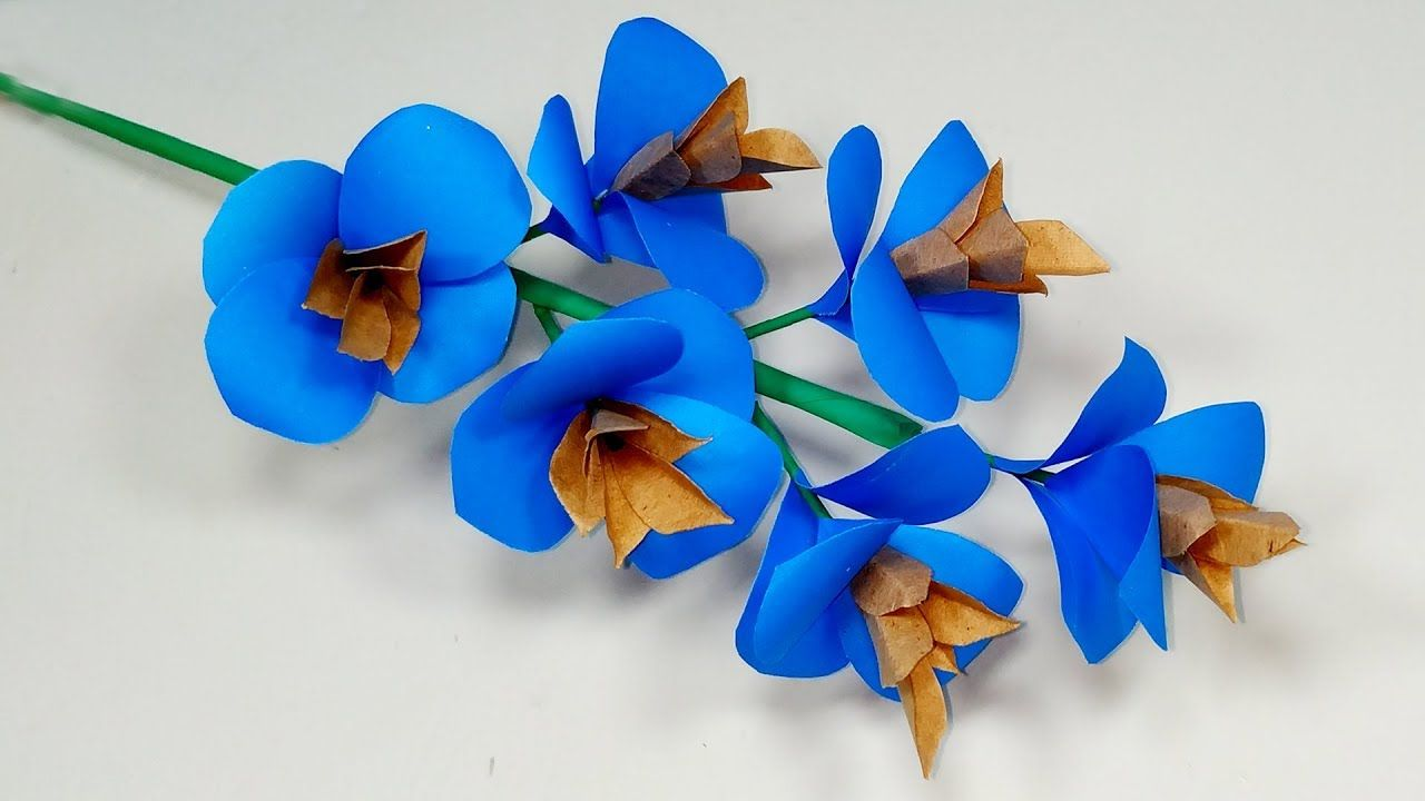 Easy Way To Make Beautiful Paper Stick Flower Tutorial Diy Paper