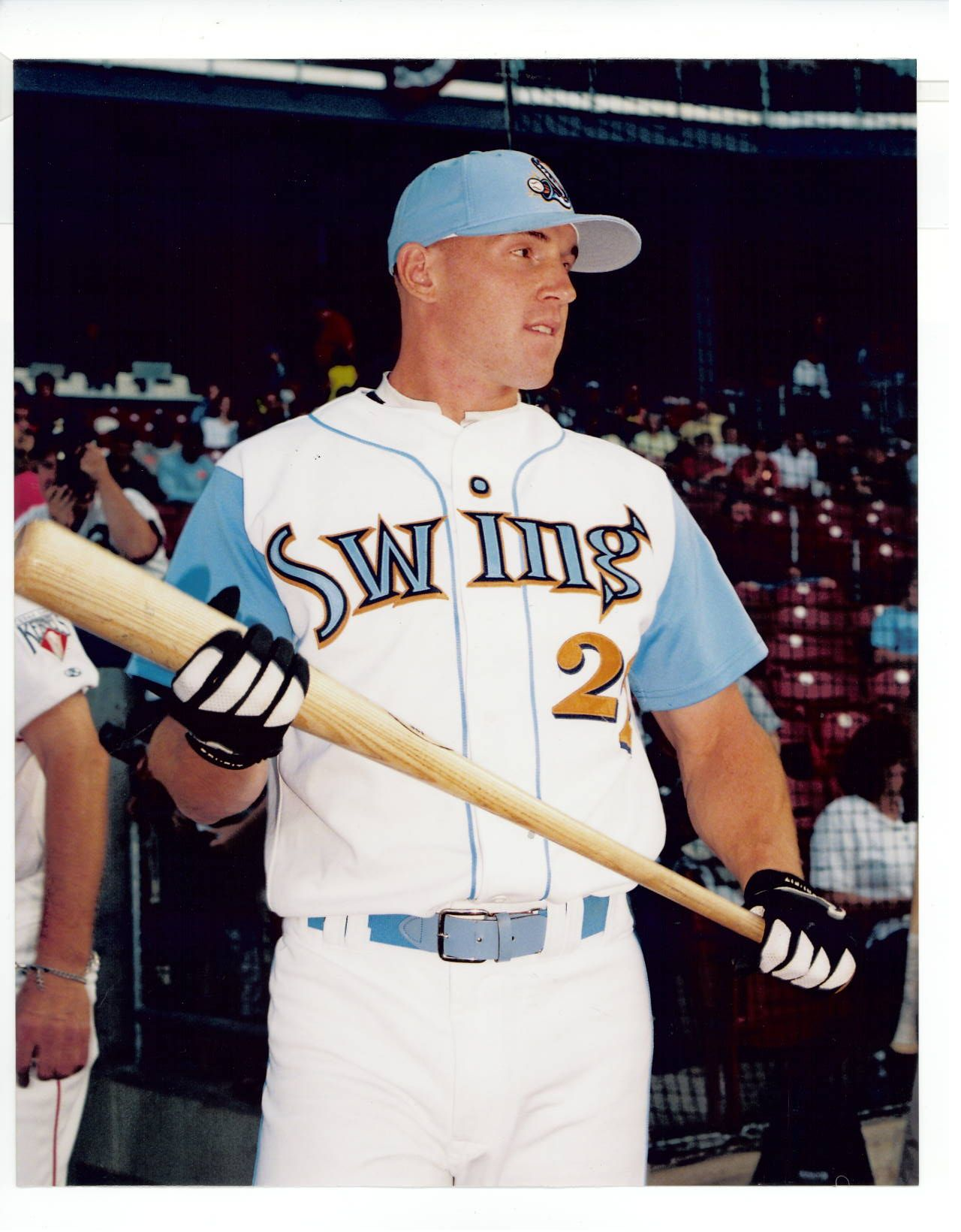 scott whitrock playing for the quad cities swing baseball  scott whitrock playing for the quad cities swing
