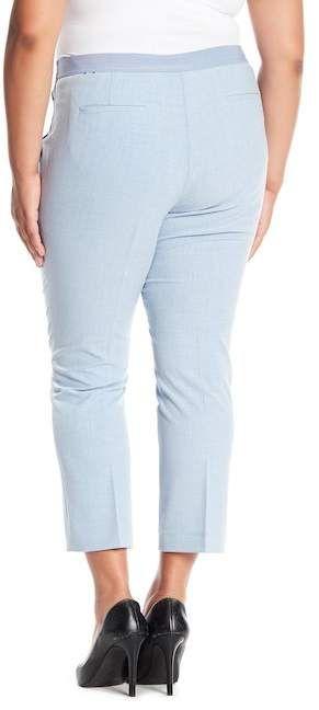 bd134540063 Elastic Back Melange Ankle Pants (Plus Size) in 2018