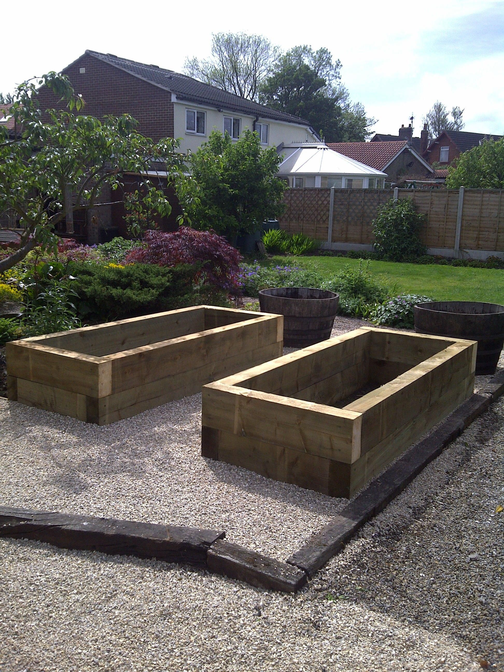 Sleeper Raised Beds For Veg Growing Making Raised Garden Beds Vegetable Garden Raised Beds Garden Beds