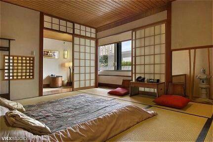 pin de r p em jap o chambre japonaise maison japonaise e int rieur japonais. Black Bedroom Furniture Sets. Home Design Ideas