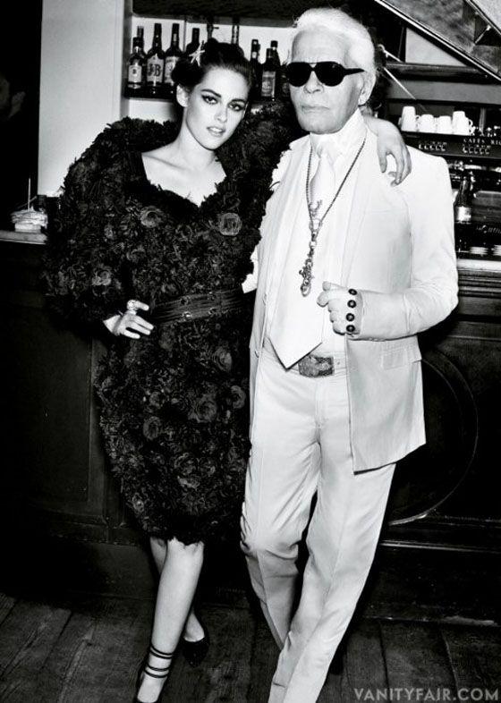 Kristen Steward and Karl Lagerfeld