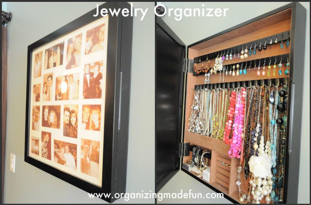 Guest Post Stylish Jewelry Organization Organizing Wooden walls