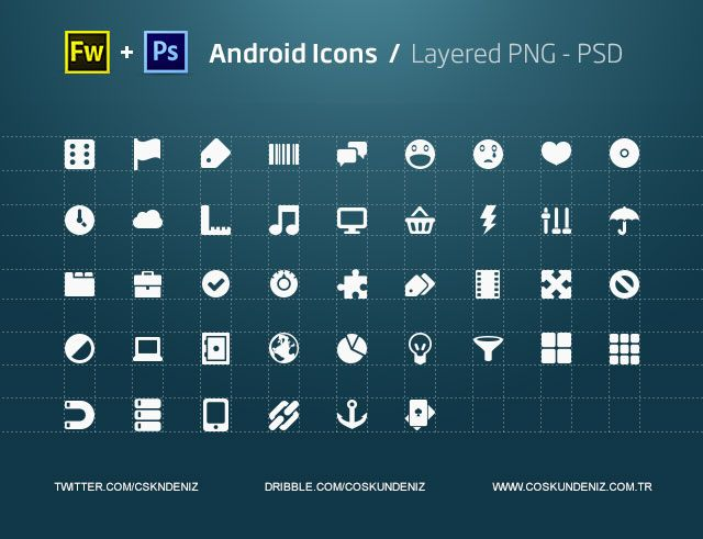 Android Icons Png Psd Shape Android Icons Icon Design Freebie