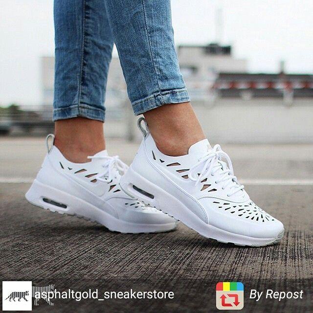 sneakers nike air max thea joli white