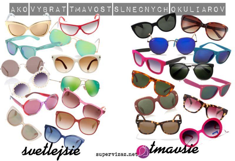 Ako vybrať farbu slnečných okuliarov