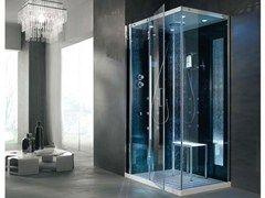 Vasche Da Bagno Angolari 120 120 : Box doccia multifunzione in cristallo con bagno turco tempo x