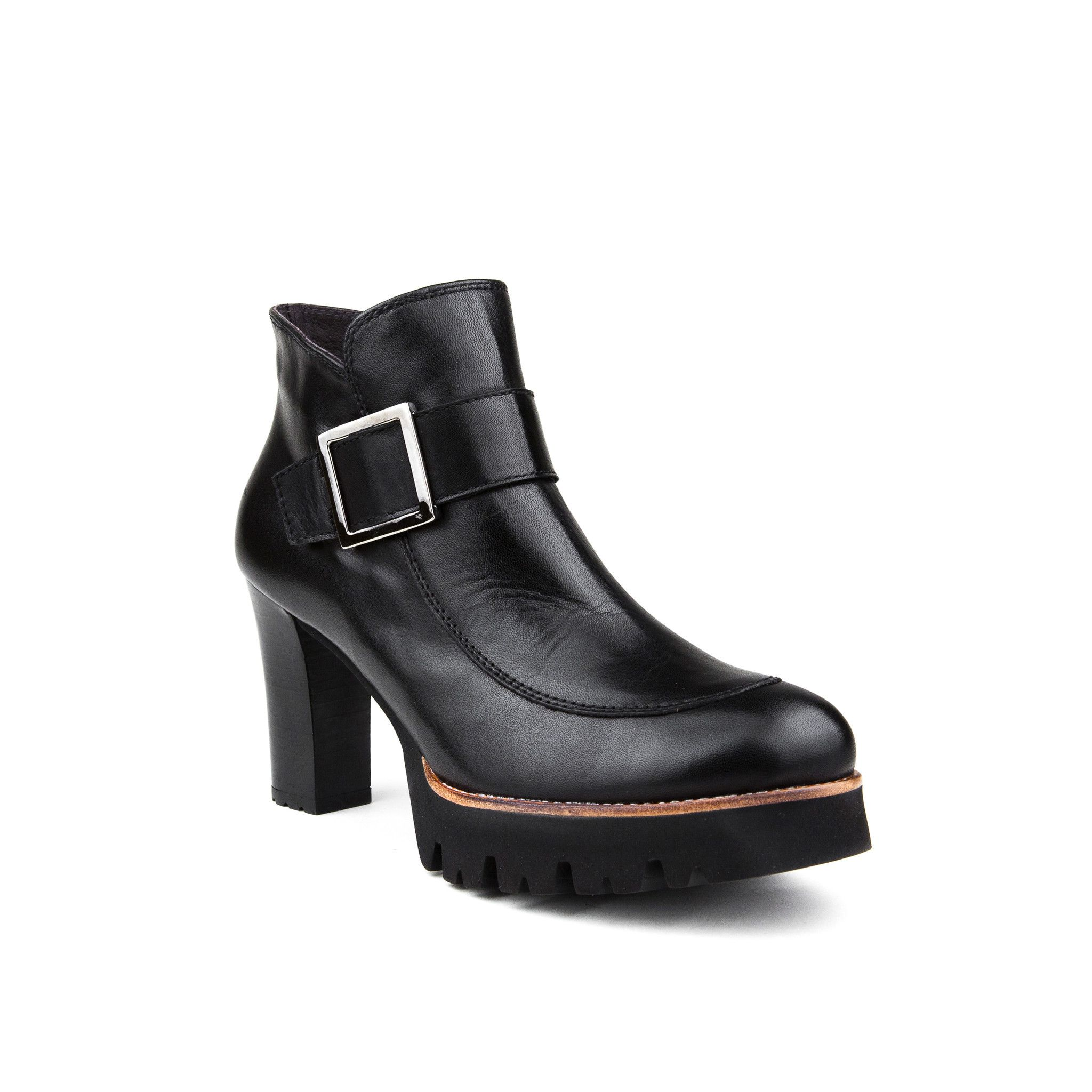 511ecabe4892 Gadea Short Black Boot with Buckle from ELLA Shoes Vancouver ...