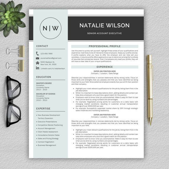 professional and modern resume template for word cv template for