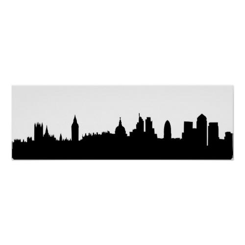 London Skyline Silhouette Cityscape Poster Zazzle Com London Skyline Silhouette Skyline Silhouette London Skyline