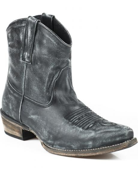 8561a67e76f Roper Dusty Distressed Booties - Snip Toe | Cowgirl Boots | Cowboy ...