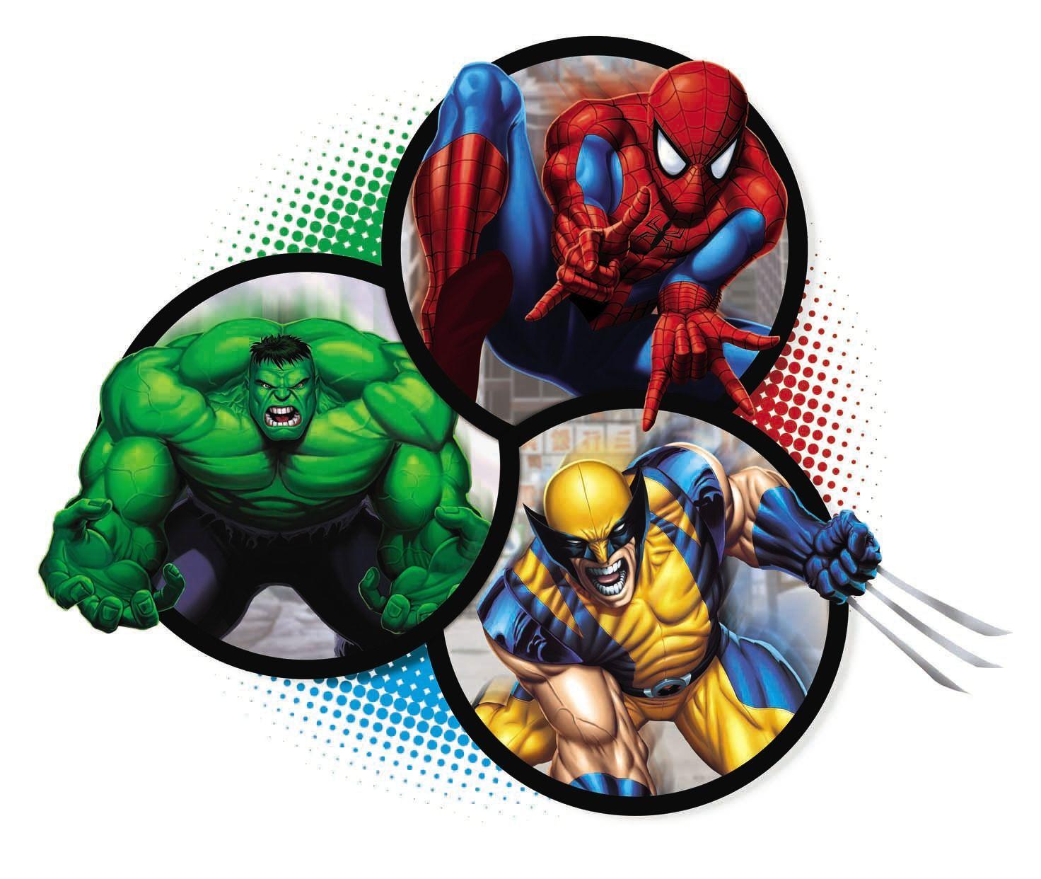 Spider-Man hulk wolverine