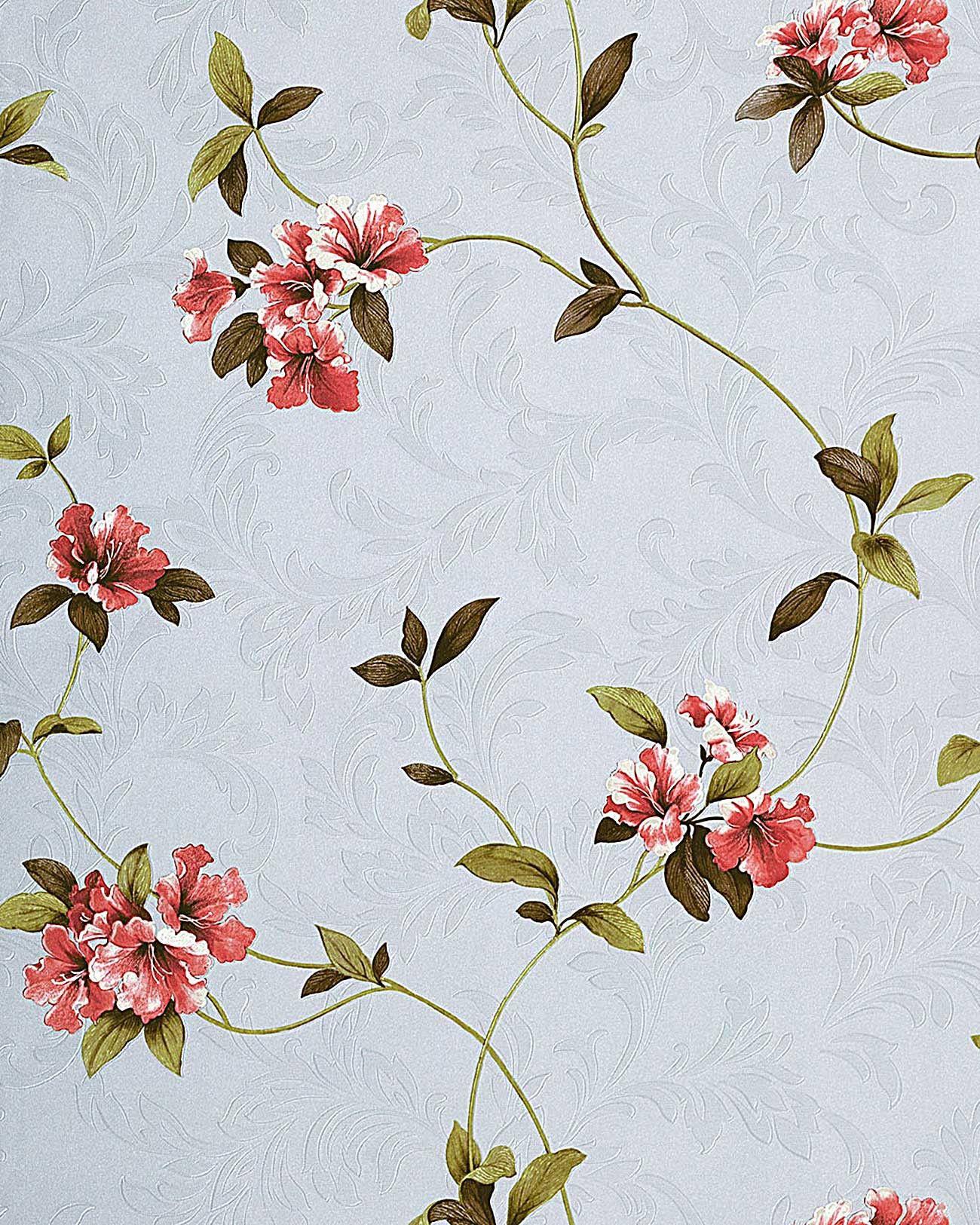 Bildergebnis für tapeten floral