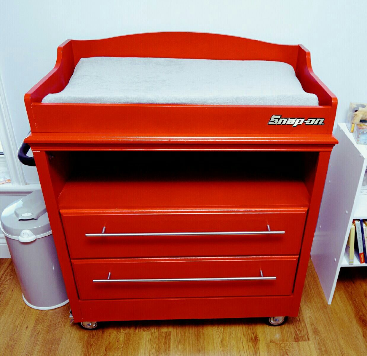 Baby Bedroom In A Box Special: Mechanic Dad Baby Snap On Tool Box Change Table