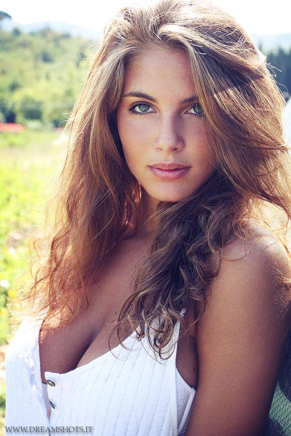 Teen glamour model brunette