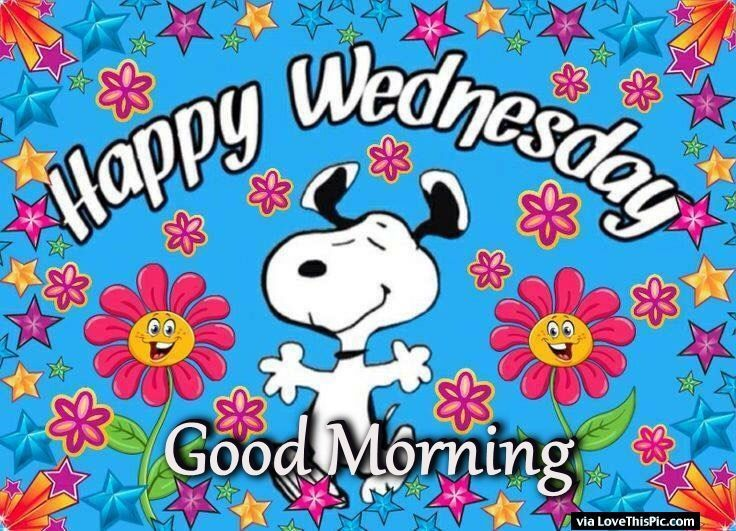 Snoopy Good Morning Happy Wednesday Image Quote (With images ...