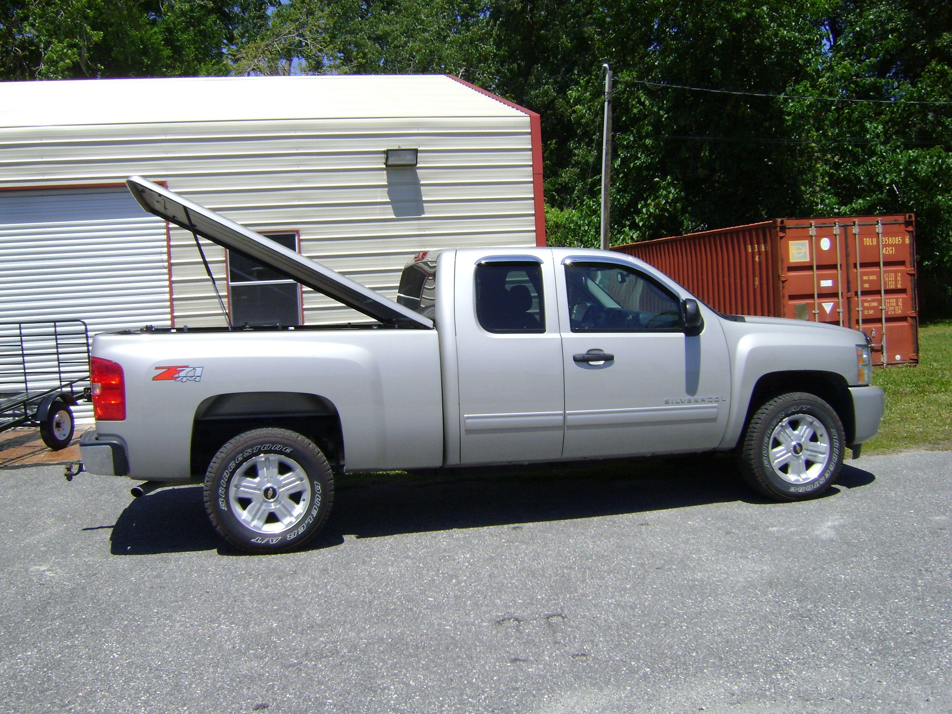 Truck cap professionally installed on Chevy Silverado