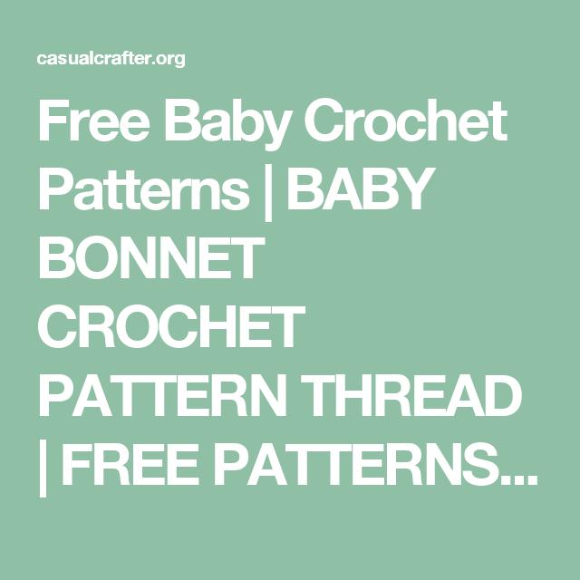 Free Baby Crochet Patterns | BABY BONNET CROCHET PATTERN THREAD ...