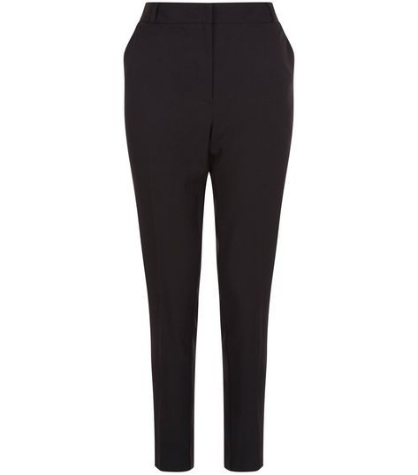 Black Stretch Slim Leg Trousers | New Look