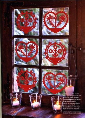 D coration de fen tre papier d coup window decoration - Decoration de noel pour fenetre ...