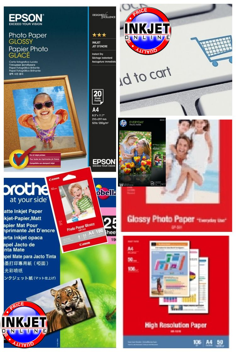 Photo Papers - Glossy, Matte, High Resolution & Semi Gloss