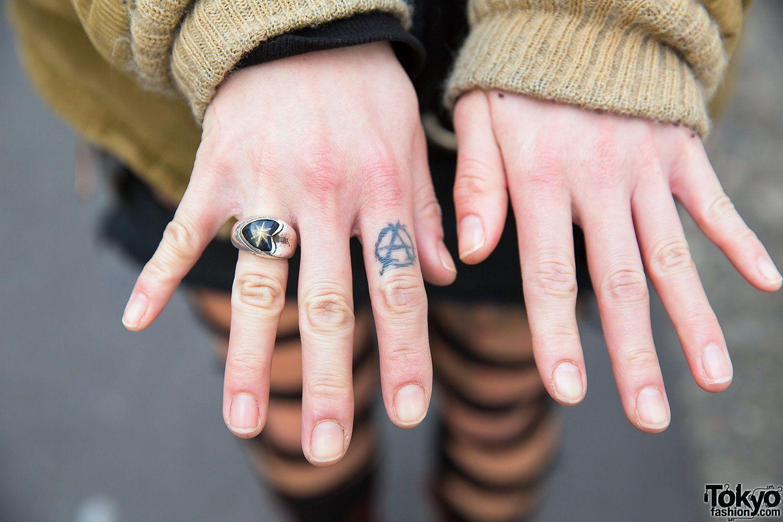 Ring Anarchy Tattoo Anarchist Tattoo Hand Tattoos Tattoos For Guys