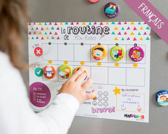 My Daily Routine Motivational Kit Routine Chart For Children Magnets Dry Erase Magnetic Board Minimo Playful Motivation Routine Chart Daily Routine Chart Charts For Kids
