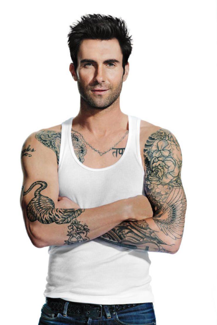adam levine tattoos - 740×1109
