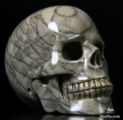 Scaled Agate Crystal Skull