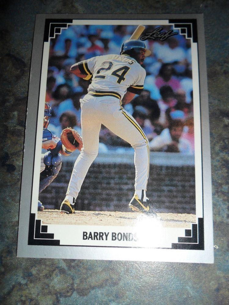 1991 leaf 261 barry bonds baseball card leaf with