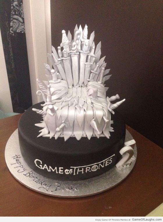 Pleasant The Iron Throne Cake Game Of Thrones Cake Game Of Thrones Personalised Birthday Cards Cominlily Jamesorg