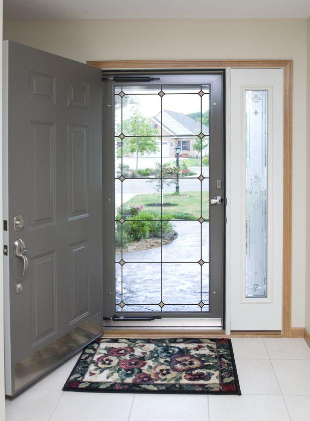 Provia Professional Glass Inspirations Grids Internal Blinds Glass Storm Doors Storm Door Decorative Storm Doors