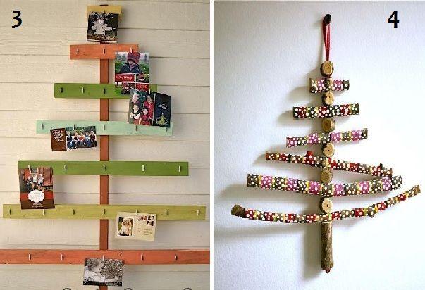 Poco spazio per l'abete di Natale? Facciamolo a parete.