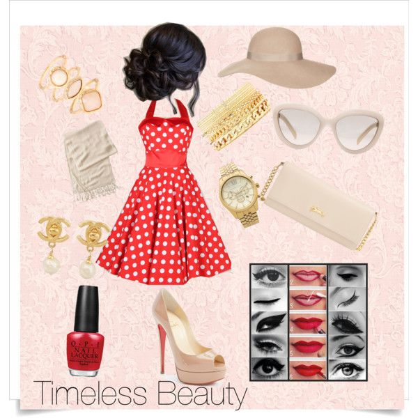 A fashion look from September 2015 featuring Christian Louboutin pumps, Longchamp wallets and Michael Kors watches. Browse and shop related looks.