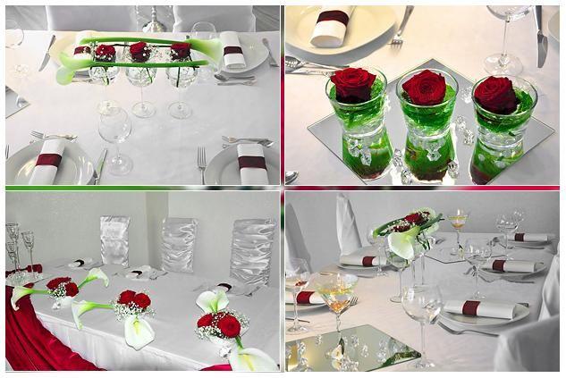 Hochzeitsdeko mit roten rosen im glas diamanthochzeit for Blumen dekorieren im glas