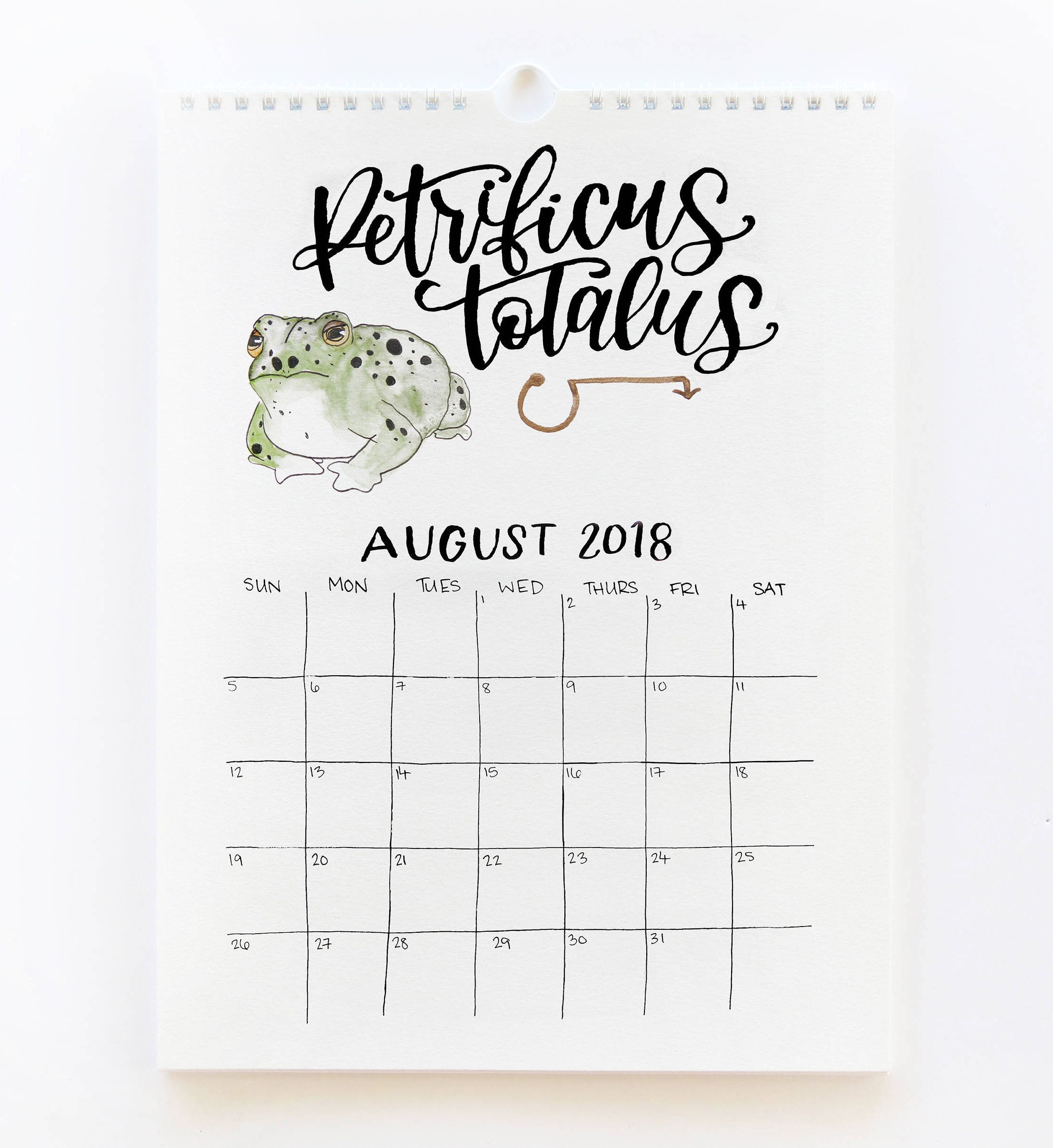 2018 Harry Potter Calendar Harry Potter Spells 12 Month 2018