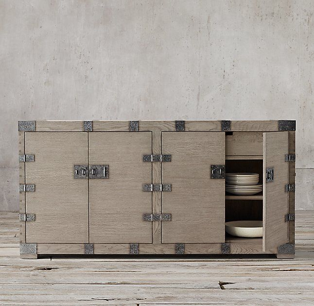 Heirloom Silver Chest Sideboard 54 W X 21 D 36 H