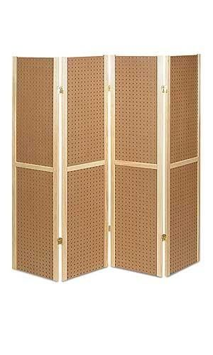6 Ft Tall Solid Frame Fabric Room Divider 4 Panels: Paint It Black And Use For Bow Display