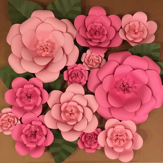 Flores De Pared Set De 12 Grandes Flores Se Puede Hacer En Los