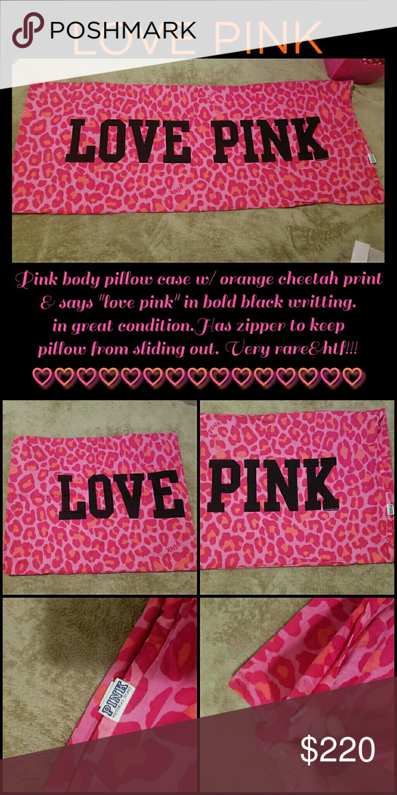 ec03716b947e RARE VS PINK BODY PILLOW CASE This one. In perfect condition. Vintage. Pink  Leopard print. Other