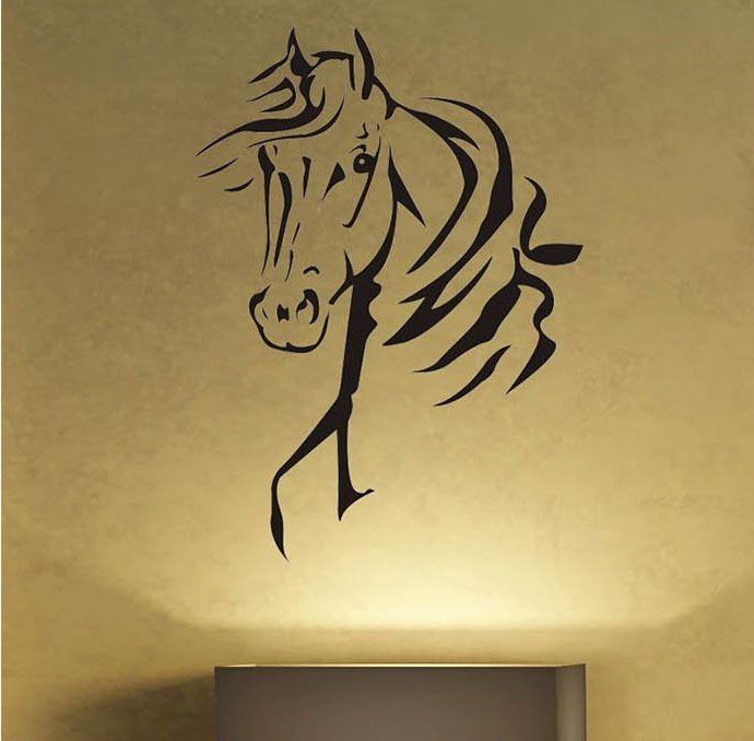 Amantes De Los Caballos Tatuajes De Pared De Vinilo Pegatinas Decoracion Extraible Wall Stickers Ninos Habitacion Animal Wall Art Sticker Wall Art Vinyl Decals